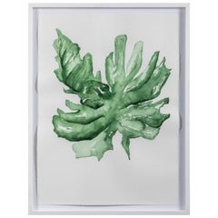 "Original Framed Artwork by Linnea Saine ""Palm Leaf"""
