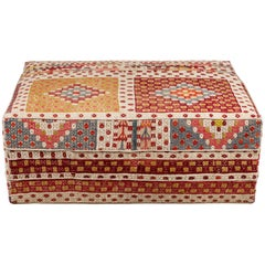 Nickey Kehoe Collection Rectangular Ottoman Upholstered in Vintage Rug