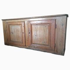 English Pine Sideboard 19th Century