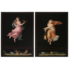 """Engravings after Raphael's """"Hours of Day and Night"""""""