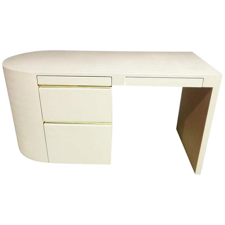 Karl Springer Style Writing Desk