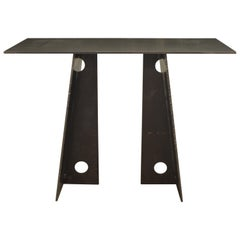 Contemporary Blackened Steel Console Table by Scott Gordon