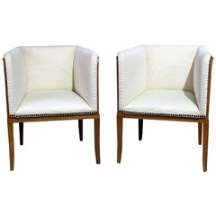 Pair of Arkitektura Mid-Century Modern Club Chairs