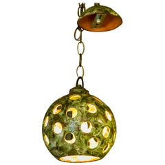 Stoneware Midcentury German Pendant Light