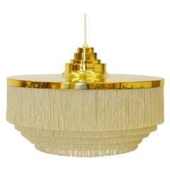 Hans-Agne Jakobsson T-603 Silk and Brass Fringe Lamp