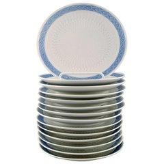 14 Pieces, Royal Copenhagen Blue Fan, Cake Plates