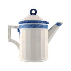 Royal Copenhagen Blue Fan, Coffee Pot, Designed by Arnold Krog in 1909