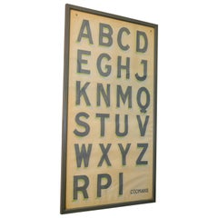 Hand Painted Alphabet Chart