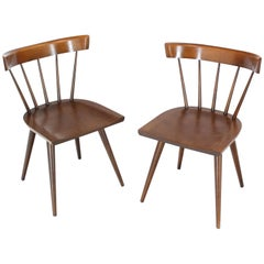 Pair of Paul McCobb Planner Group Dining Chairs Windsor Style
