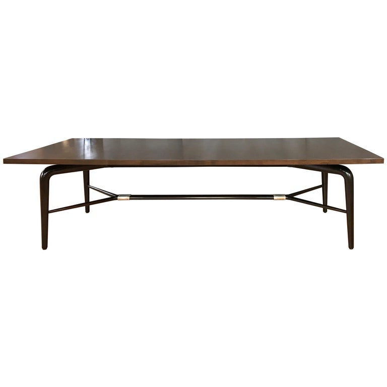 Maurice Bailey for Monteverdi-Young Monumental Walnut Dining Table