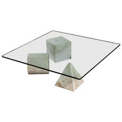 "Marble ""Metaphora"" Coffee Table by Massimo and Leila Vignelli"