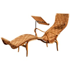 Rare Pernilla Chaise Longue with Reading Tray by Bruno Mathsson