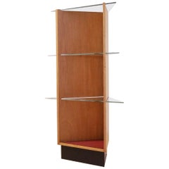 Midcentury Swiss Modernist V-Shaped Freestanding Shelving Unit