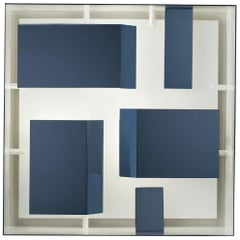 Screen of Light Squared Sconce by Gio Ponti in Blue