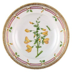 Royal Copenhagen, 'Flora Danica' Deep Plate of Porcelain