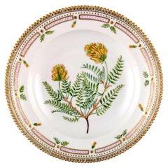 Royal Copenhagen, 'Flora Danica' Deep Plate of Porcelain, Decorated with Flowers