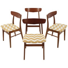 Set of Four Teak Chairs Denmark, 1960