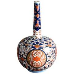 A 19th Century Imari Porcelain Bottle Vase