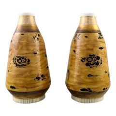 Theodor Larsen for Royal Copenhagen, a Pair of Porcelain Vases, Japanism