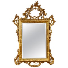 20th Century Carved and Giltwood Venetian Mirror, 1950