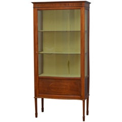 Slim Edwardian Display Cabinet