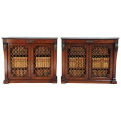 Two Regency Period Mahogany Brass Mounted Cabinets