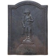 19th Century Cast Iron Fireback with Napoleon