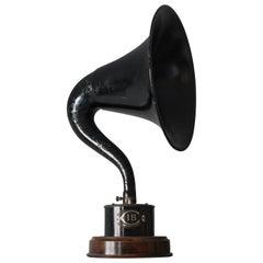 Vintage Industrial Decorative Horn Speaker, circa 1930