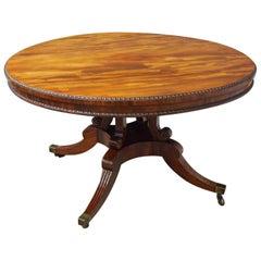 Regency William Trotter Style Mahogany Breakfast Table