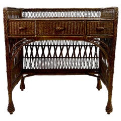 Arts & Crafts Wicker Desk