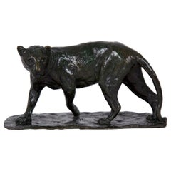 French Bronze Sculpture of a Lioness by Roger Godchaux & Susse