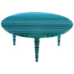 """Entrelinhas"" Blue Medium Coffee Table"