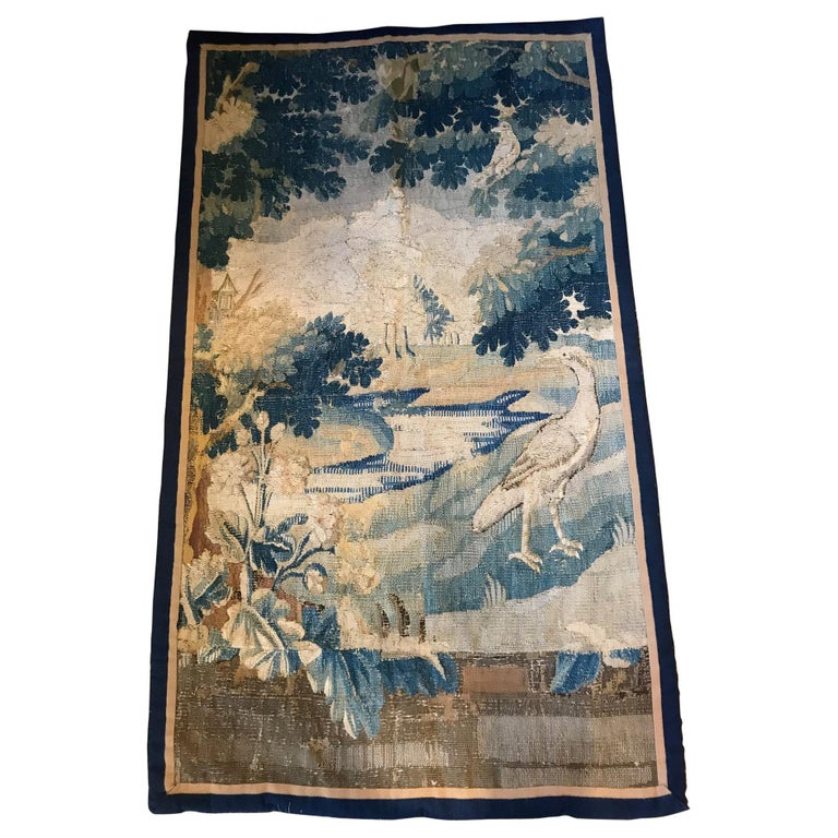 18th Century French Aubusson Verdure Tapestry