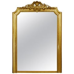 19th Century Gold Leaf Gilt Antique French Louis Philippe Mirror