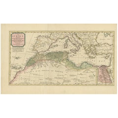 Antique Map Northern Africa by I. Tirion, circa 1770