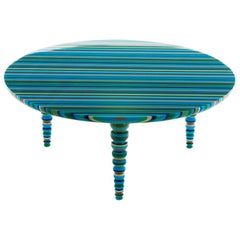 """Entrelinhas"" Large Blue Coffee Table"