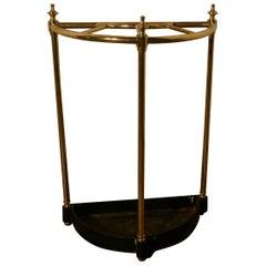 Victorian Half Round Steel & Iron Stick Stand or Umbrella Stand