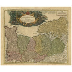 Antique Map Normandy 'France' by Homann Heirs