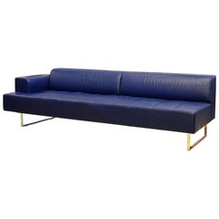 Italian Leather Sofa or Chaise by Studio Cerri & Associati for Poltrona Frau