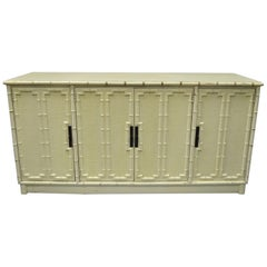 Drexel Kensington Faux Bamboo Credenza Chinese Chippendale Buffet Sideboard