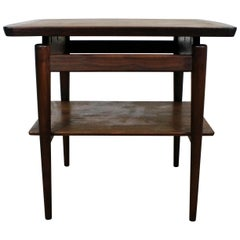 Midcentury Danish Modern Jens Risom Teak End Table