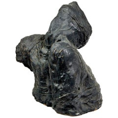 "Bronze Sculpture ""Bust with a Bandaged Head"" by Michel Warren"