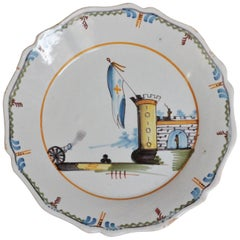 Nevers 'France' Faience Plate of Revolutionary Period, 18th Century