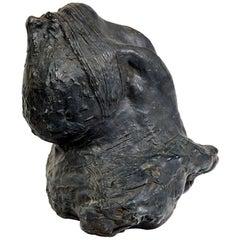 "Bronze Sculpture ""Gagged Head Back"" by Michel Warren"