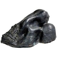 """Bronze Sculpture """"Head Resting on the Shoulder"""" by Michel Warren"""