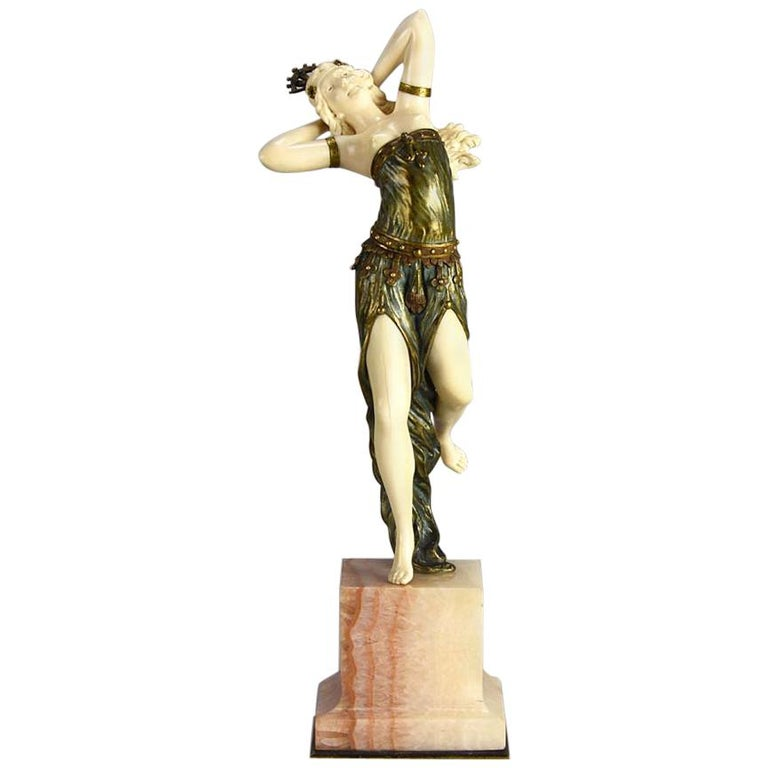 Art Deco Chryselephantine Figure 'Salome' by Henri Fugère