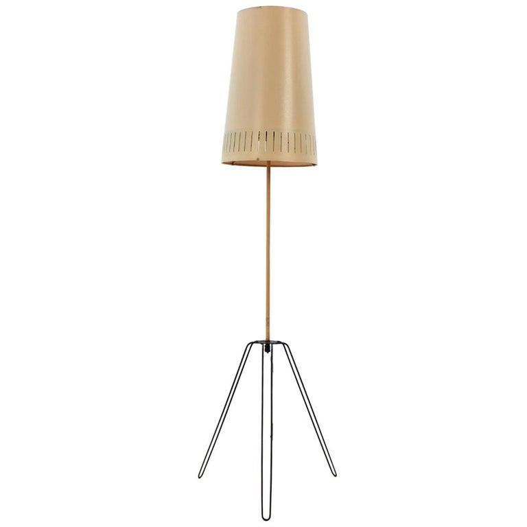 Midcentury Floor Lamp, Czechoslovakia