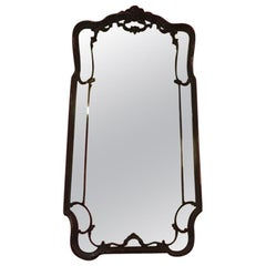 19th Century French Mirror with Black Lacquered Wood Frame from 1890s