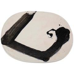 Jun Kaneko Glazed Earthenware Oval Plate