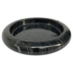 Ashtray in Black Marble Attributed to Mangiarotti, Italy, 1970s